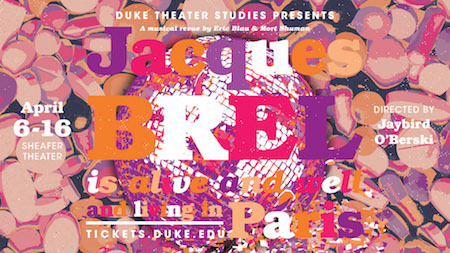 Duke Theater Studies presents Jacques Brel